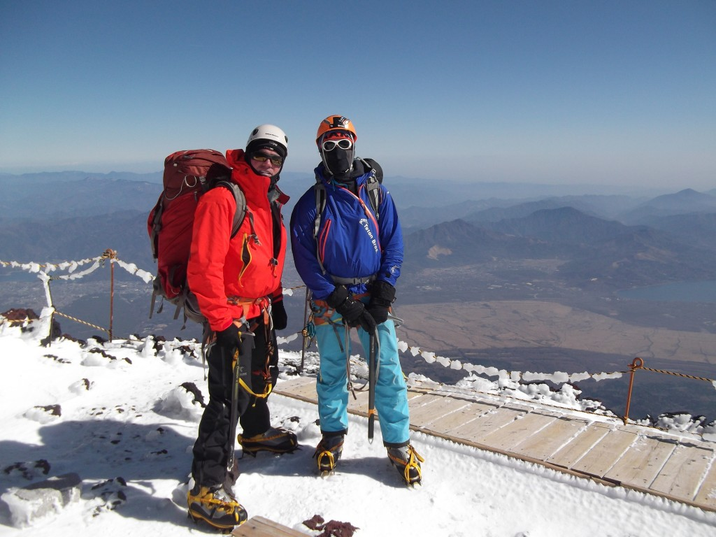 mt fuji winter climbing summit
