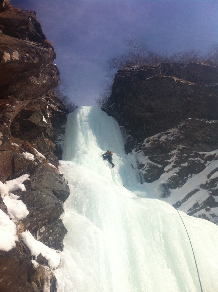 ice climbing japan o-taki ice fall