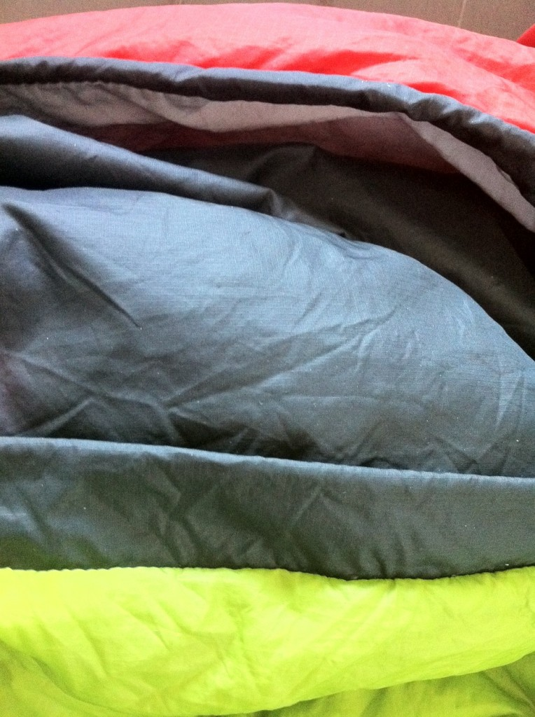double sleeping bag loft comparison