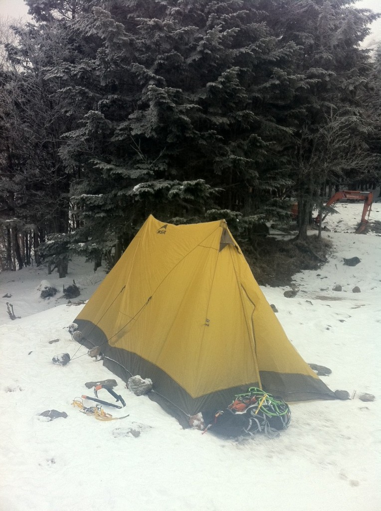MSR twin brother tent footprint climbing alpine