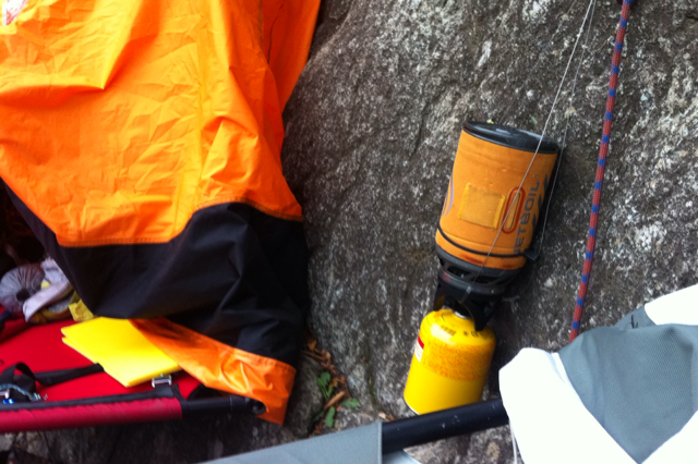 alpine walls clean aid hanging stove portaledge japan