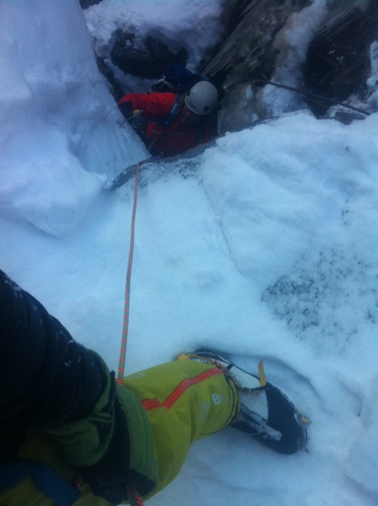 kaikomagatake ice climbing japan belay